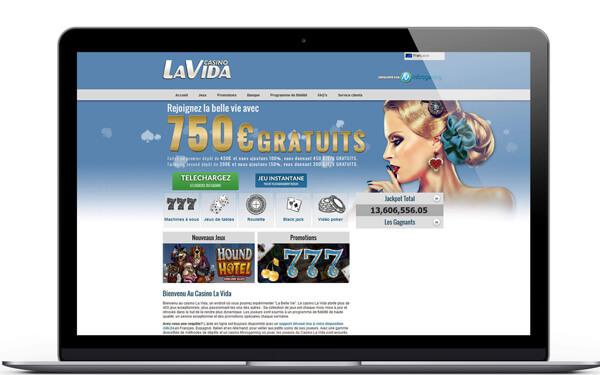 LaVida casino : Recevez 750 euros de bonus de bienvenue