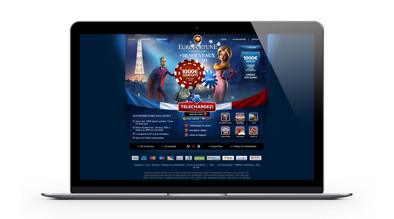 Eurofortune casino français : 1000€ Bonus Bienvenue