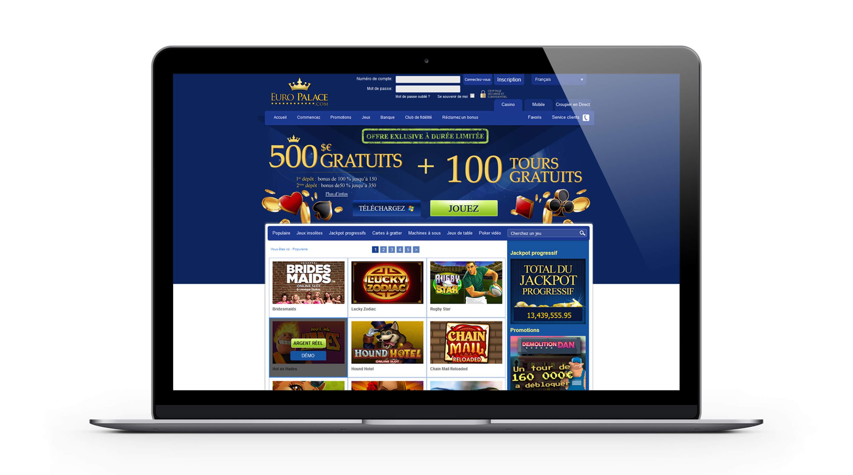 Euro Palace casino :500 euros de bonus gratuit