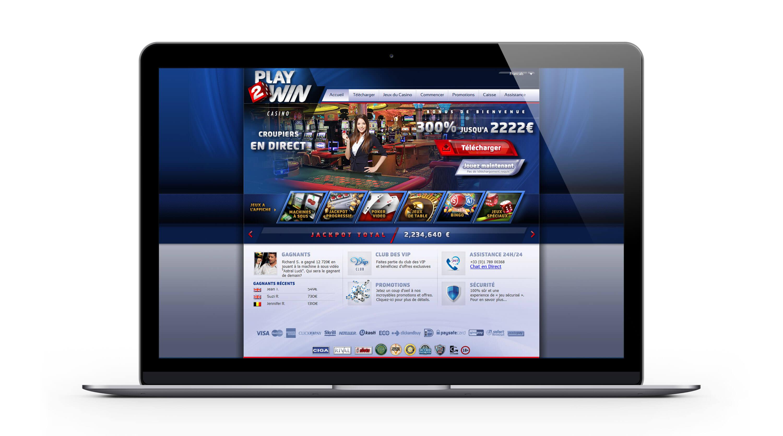 Play2win casino : 2222€ Bonus Bienvenue sur le meilleur casino en ligne français