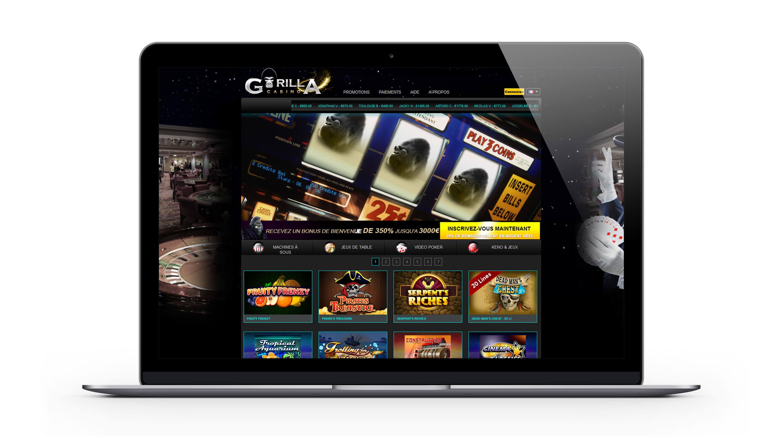 Gorilla casino : profitez des bonus et promotions exceptionnels