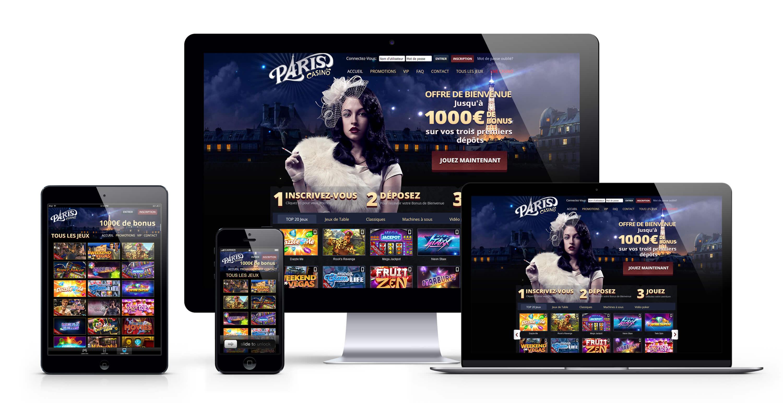 Paris casino : 1000€ Bonus Bienvenue sur le meilleur casino en ligne français