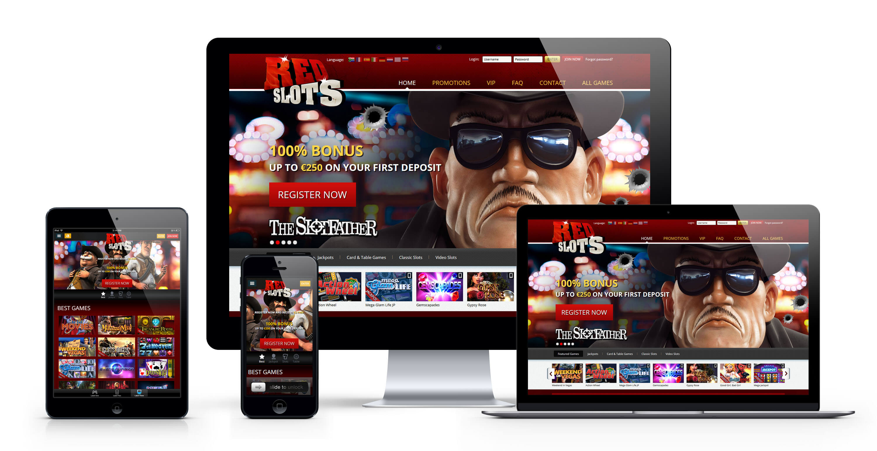 Red Slots casino : 250€ Bonus Bienvenue