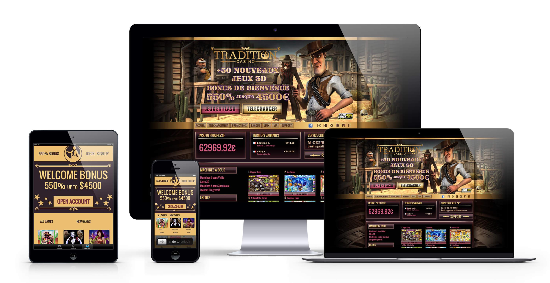 Tradition casino : 4500€ Bonus Bienvenue pour jouer sur tous les jeux de casino