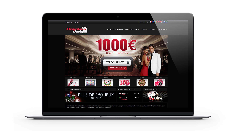 Royale jackpot casino : 1000€ Bonus Bienvenue sur le casino en ligne