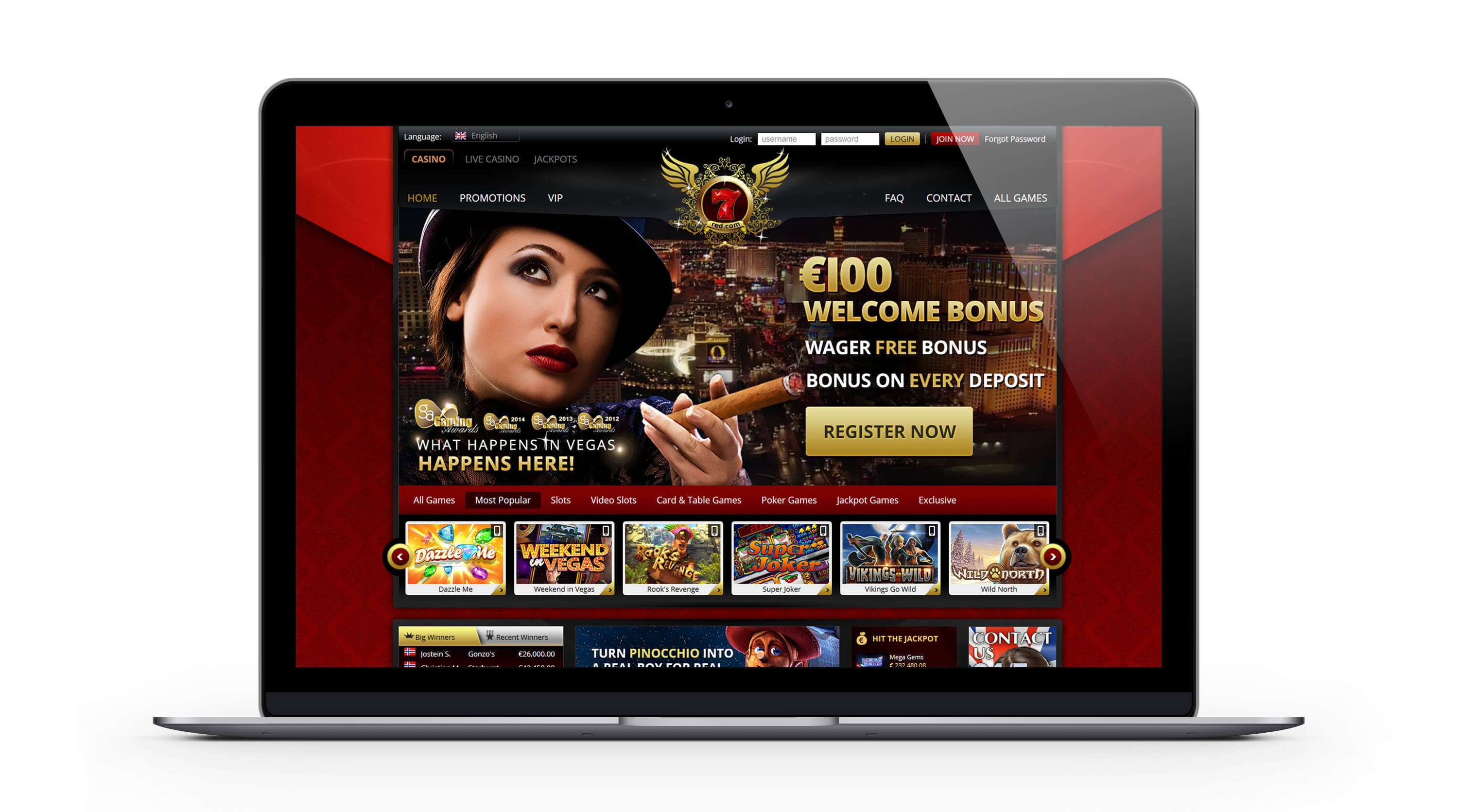 7Red.com casino : un casino exceptionnel pour la France