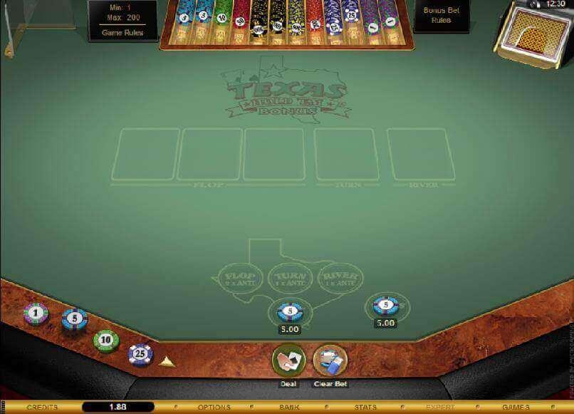 Jouez au Texas Hold'em Bonus Poker Gold sur le casino en ligne