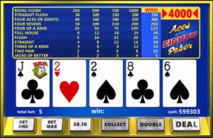 Jouer au Aces & Eights Vidéo Poker dans les casinos en ligne français