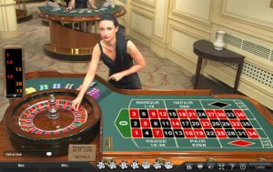Table de roulette en direct