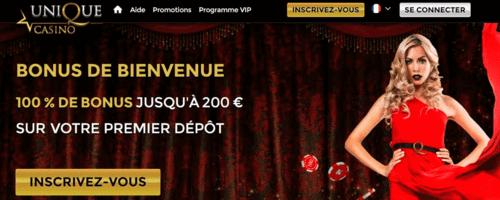 Unique Casino Jeux Live