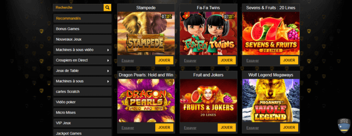 Jeux Enzo Casino