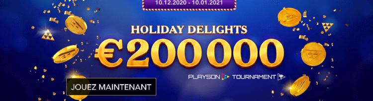 Playson tournoi Noël
